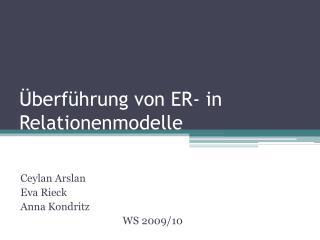 Überführung von ER- in Relationenmodelle