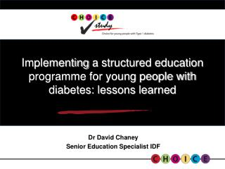 Implementing  a structured education programme for young people with diabetes: lessons learned