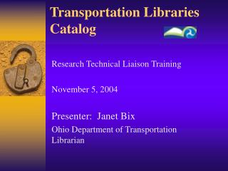 Transportation Libraries Catalog