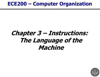 ECE200 � Computer Organization