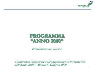"""PROGRAMMA """"ANNO 2000"""""""