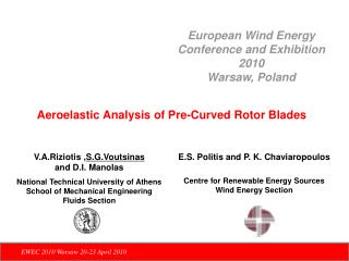 Aeroelastic Analysis of Pre-Curved Rotor Blades