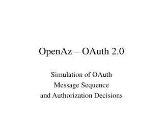 OpenAz – OAuth 2.0