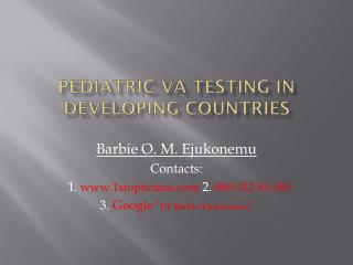 Pediatric VA Testing in Developing countries