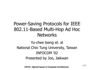 Power-Saving Protocols for IEEE 802.11-Based Multi-Hop Ad Hoc Networks