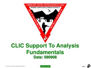 CLIC Support To Analysis Fundamentals