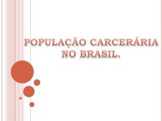 POPULAÇÃO CARCERÁRIA NO BRASIL.
