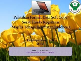 Pelatihan Format Data Soft Copy   Surat Tanda Registrasi  Majelis Tenaga Kesehatan Indonesia