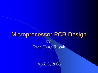 Microprocessor PCB Design