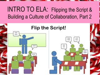 INTRO TO ELA:   Flipping the Script & Building a Culture of Collaboration, Part 2
