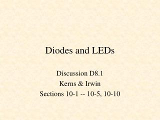Diodes and LEDs