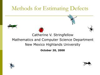 Methods for Estimating Defects