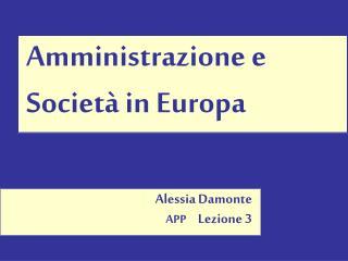 Amministrazione e Società in Europa