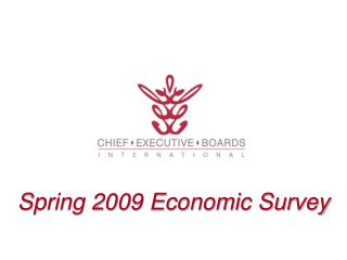 Spring 2009 Economic Survey