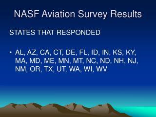 NASF Aviation Survey Results
