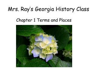 Mrs. Ray�s Georgia History Class