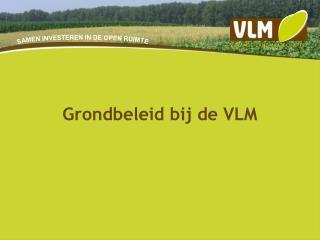 Grondbeleid bij de VLM