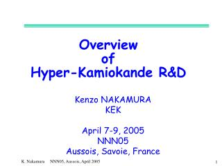 Overview of Hyper-Kamiokande R&D