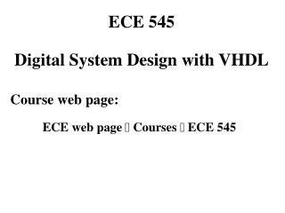 EE 414   Introduction to VLSI Design