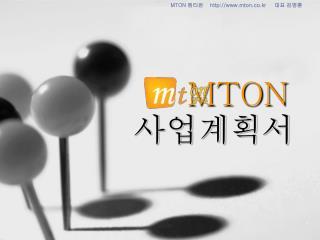MTON 사업계획서