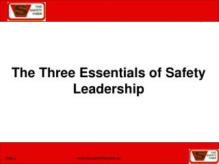 The Three Essentials of Safety Leadership