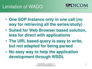 Limitation of WADO