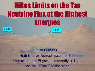HiRes Limits on the Tau Neutrino Flux at the Highest Energies