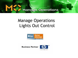 Manage Operations  Lights Out Control