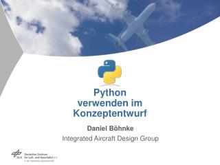 Python verwenden im Konzeptentwurf