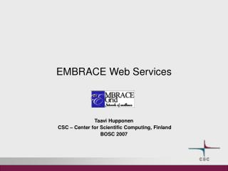 EMBRACE Web Services