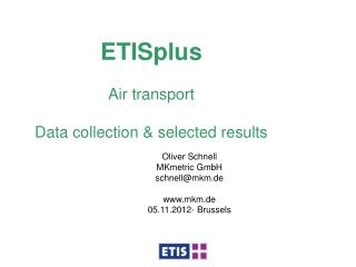 ETISplus Air transport  Data collection & selected results