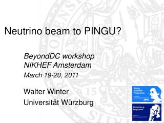 Neutrino beam to PINGU?