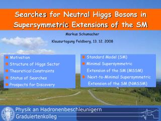 Searches  for Neutral  Higgs Bosons  in  Supersymmetric Extensions of the  SM