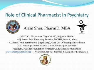 Role of Clinical Pharmacist in Psychiatry