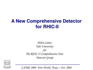 A New Comprehensive Detector  for RHIC-II