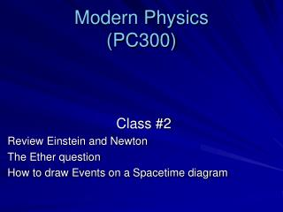 Modern Physics (PC300)