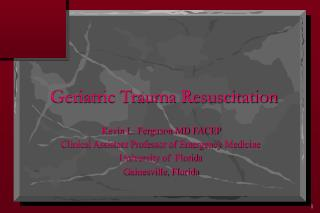 Geriatric Trauma Resuscitation
