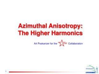 Azimuthal Anisotropy: The Higher Harmonics