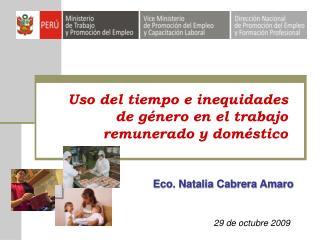Uso del tiempo e inequidades de género en el trabajo remunerado y doméstico