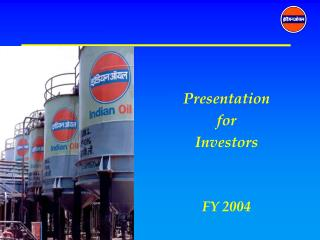 Presentation for Investors FY 2004