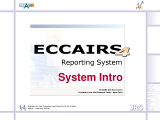 ECCAIRS End-User Course Provided by the Joint Research Centre - Ispra (Italy)