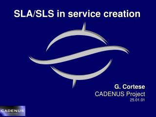 SLA/SLS in service creation