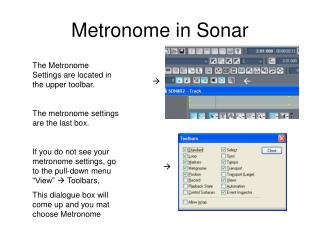 Metronome in Sonar