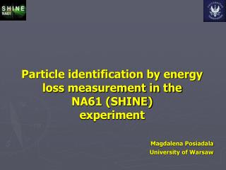 Particle identification by energy loss measurement in the  NA61 (SHINE) experiment