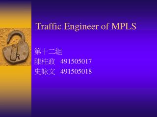 Traffic Engineer of MPLS