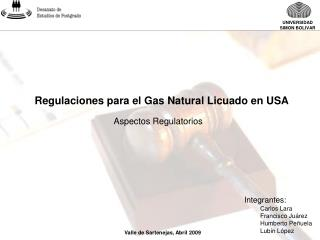 Regulaciones para el Gas Natural Licuado en USA