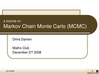 A tutorial on Markov Chain Monte Carlo MCMC