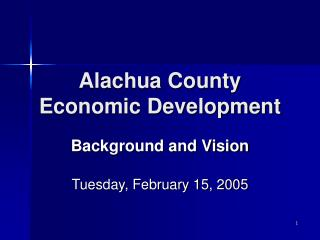 Alachua County  Economic Development