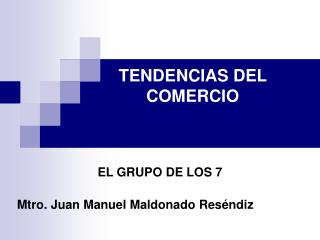 Mtro. Juan Manuel Maldonado Reséndiz