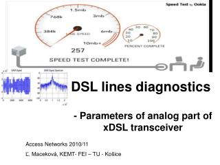 DSL lines diagnostics